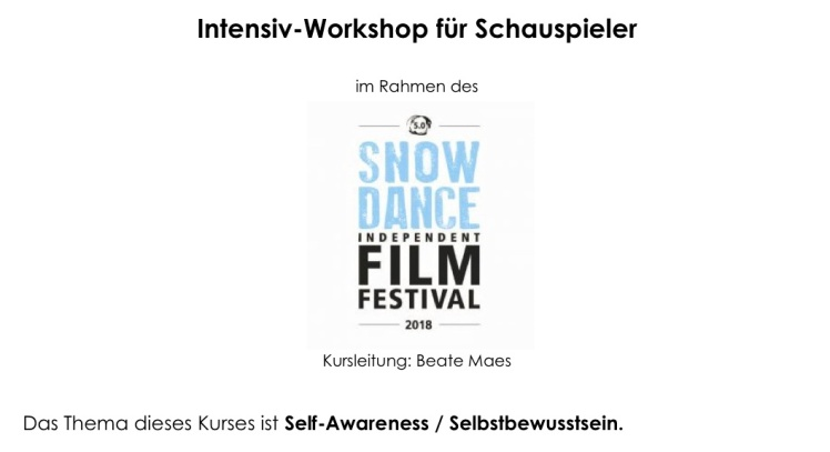 Workshop Snowdance 2018